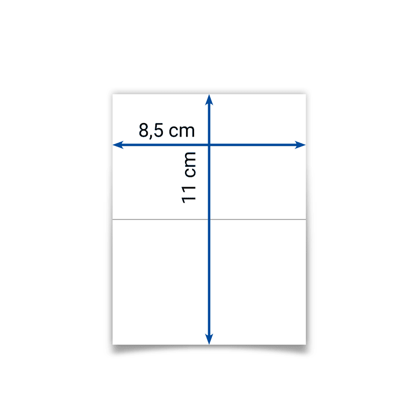klappbare Visitenkarte 8,5x11 cm