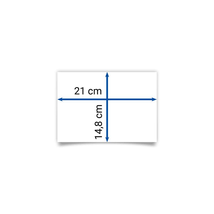 Faltblatt A5 21x14,8 cm