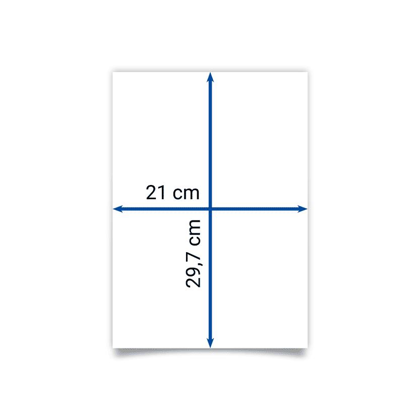 Faltblatt A4 21x29,7 cm