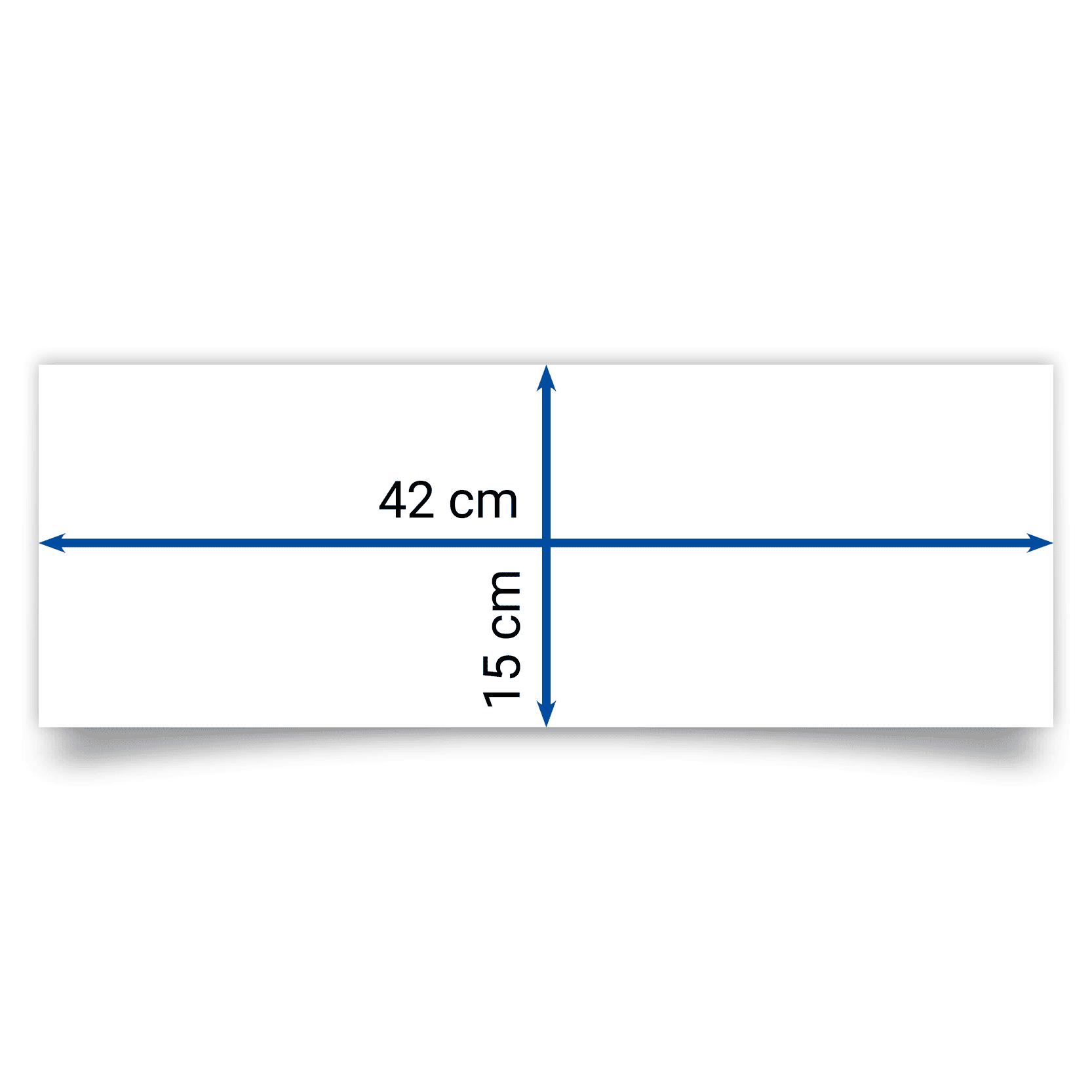 Faltblatt 42x15 cm