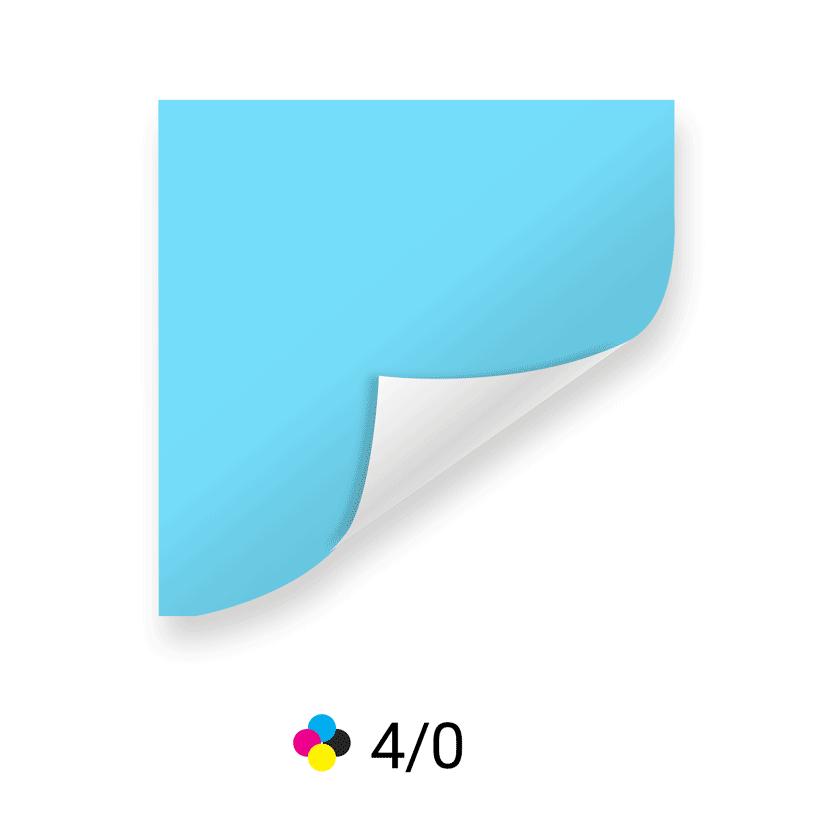 farbige Vorderseite
