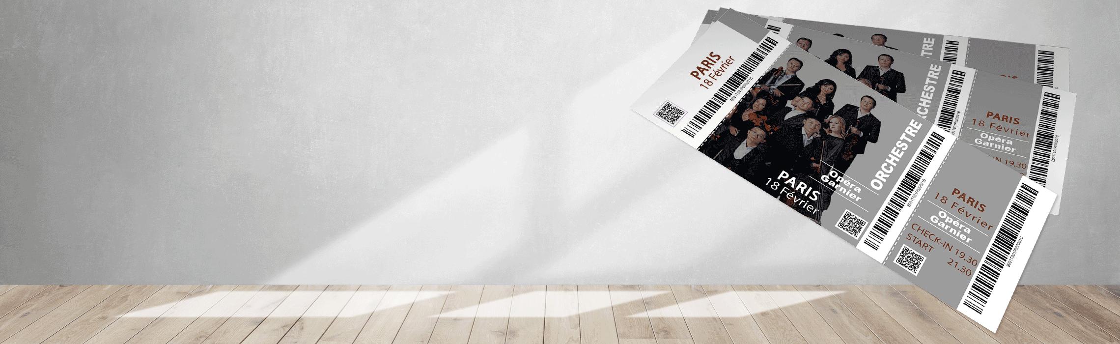Billets avec code a barres et code QR