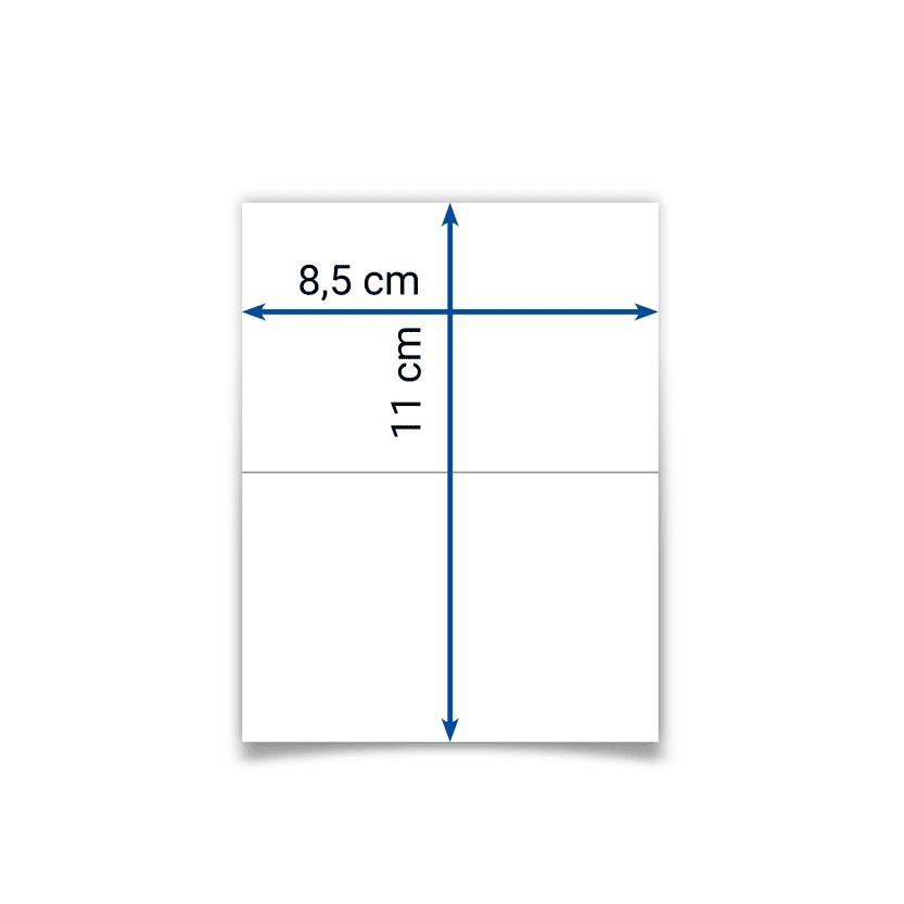 biglietto pieghevole 8,5x11 cm