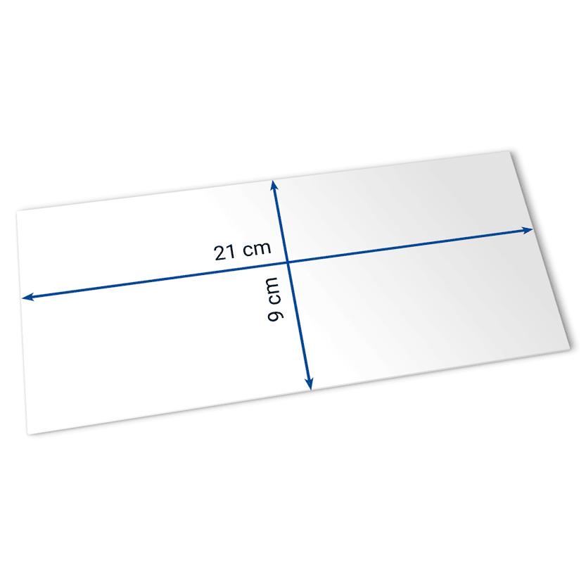 billets 21x9 cm