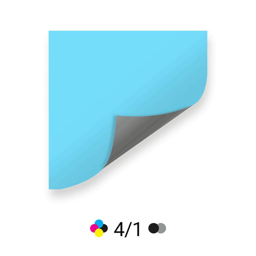 4 couleurs recto / 1 couleur verso