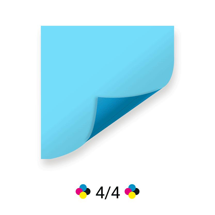 4 couleurs recto-verso