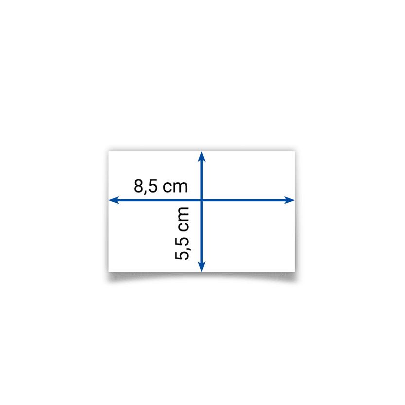 biglietto 8,5x5,5 cm