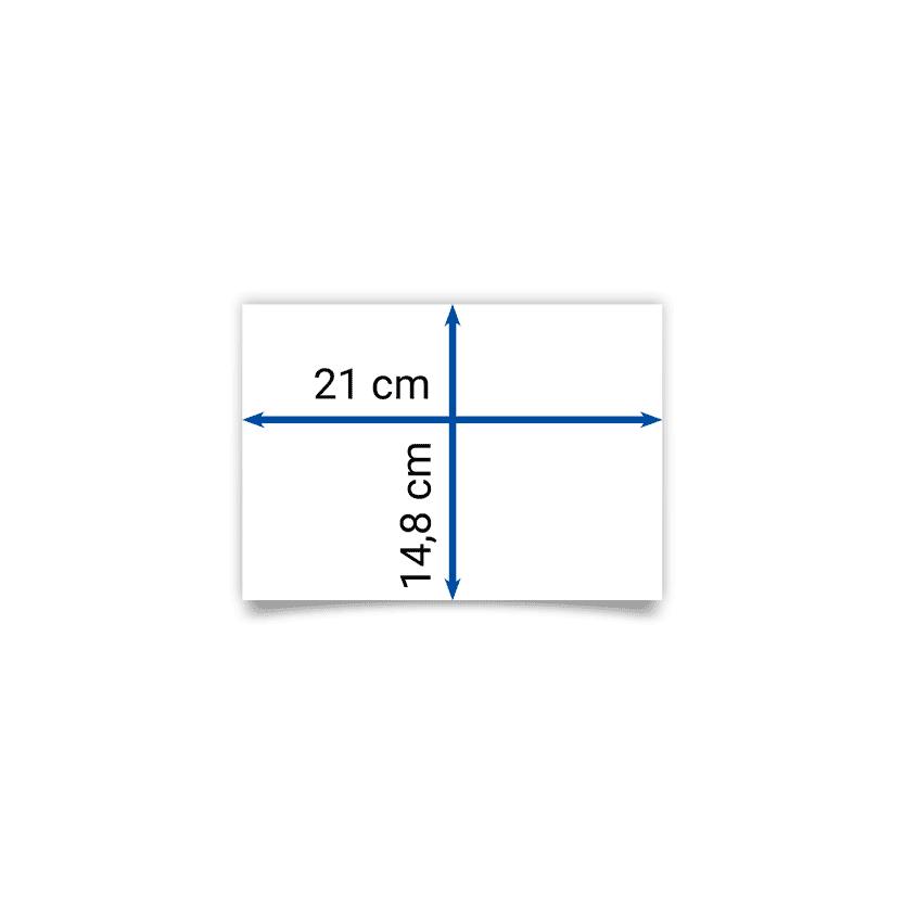 pieghevole A5 21x14,8 cm